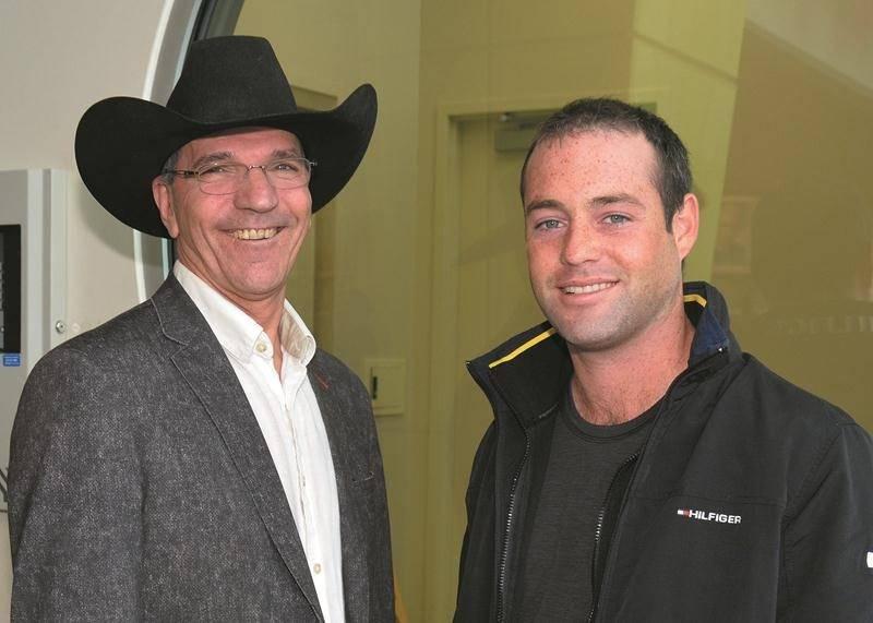François Pépin, président du Salon du cheval, et David Arcand, cavalier et porte-parole de l'événement. Photo François Larivière | Le Courrier ©