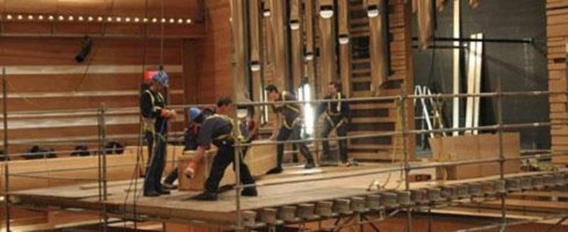 Au total, 6 489 tuyaux fabriqués à la main formeront l'instrument.