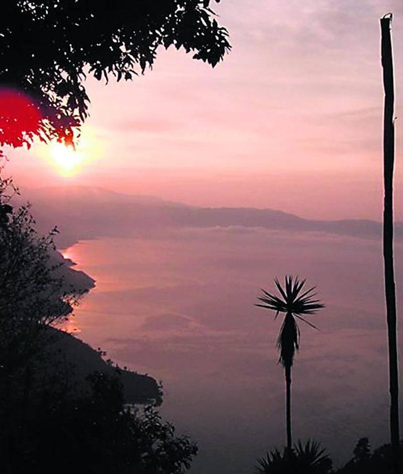 L'un des magnifiques levers de soleil auquel a eu droit Karl Pineault durant son séjour au Nicaragua. Photo courtoisie