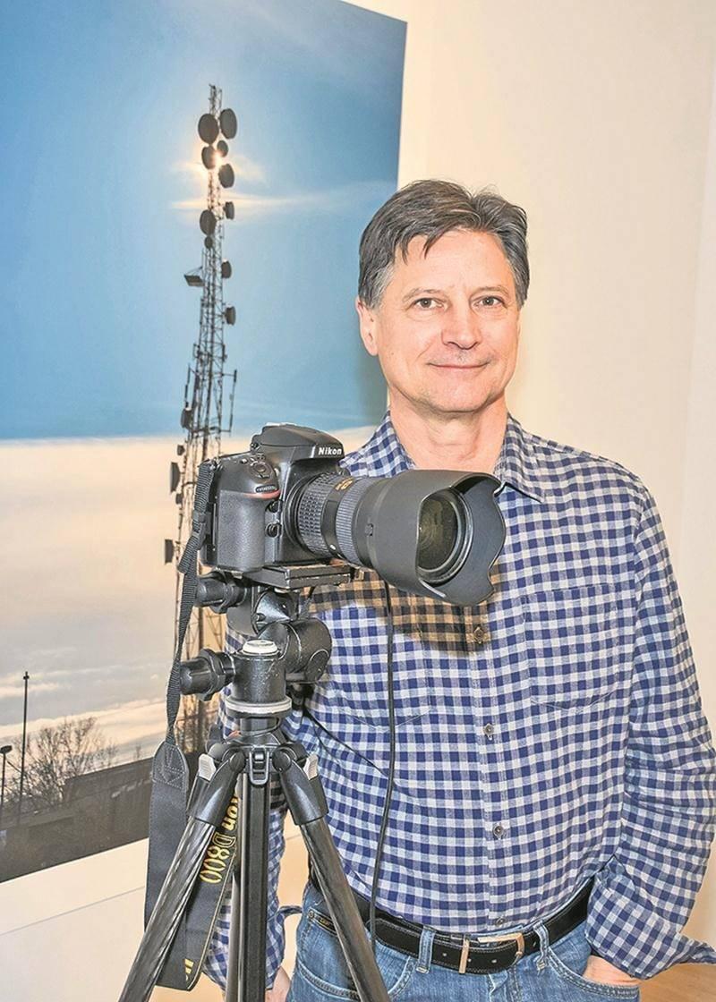 Aux confins du visible est la deuxième exposition présentée par Denis Farley à Expression. En 2000, il avait proposé Meeting.  Photo François Larivière | Le Courrier ©