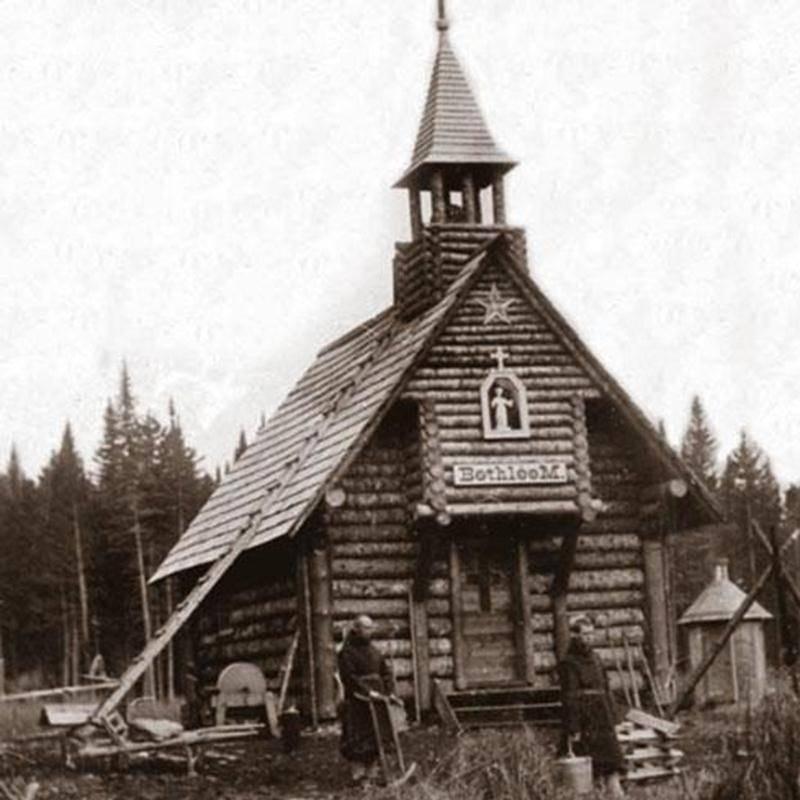 La maison-chapelle de Bethléem, à La Patrie(Collection de la Société d'histoire de Sherbrooke)