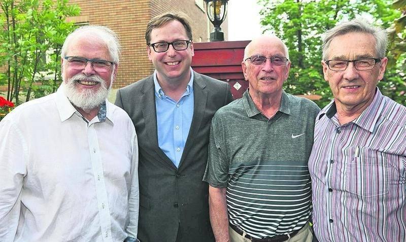 Réal Brodeur, Benoit Chartier, Pierre Bornais et Paul Paradis.