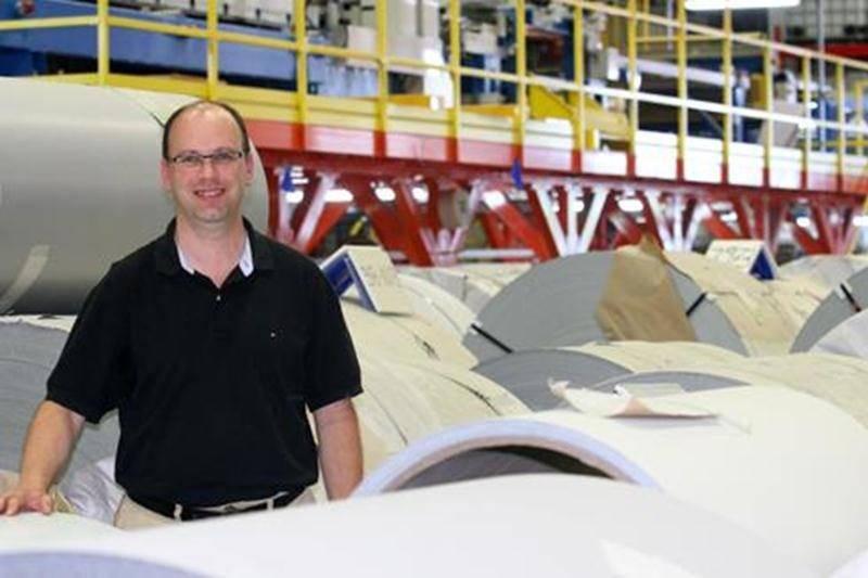 Stéphane Morin, directeur de l'usine de Saint-Hyacinthe.