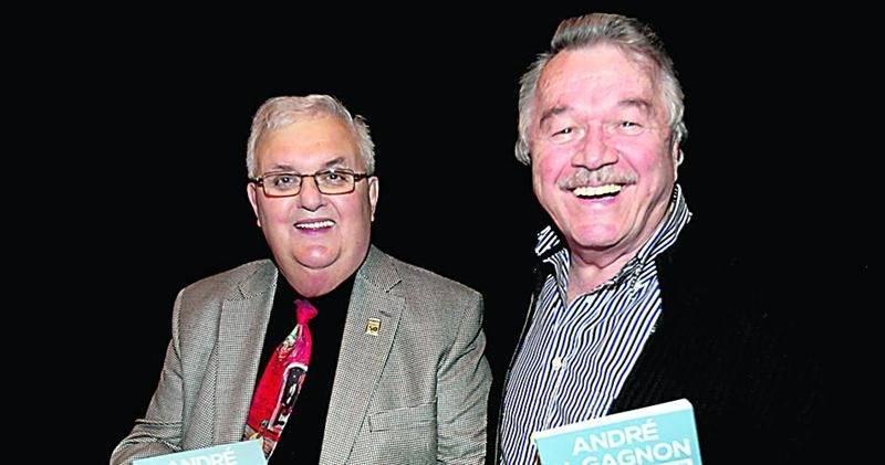 La vedette du jour en compagnie de son ami André Dion, président et directeur général de RONA pendant de nombreuses années et actuel propriétaire de la ferme horticole Guyon à Chambly.