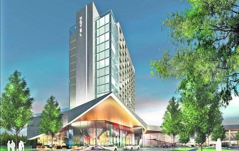 Maquette du futur hôtel haut de gamme maskoutain. Photothèque | Le Courrier ©