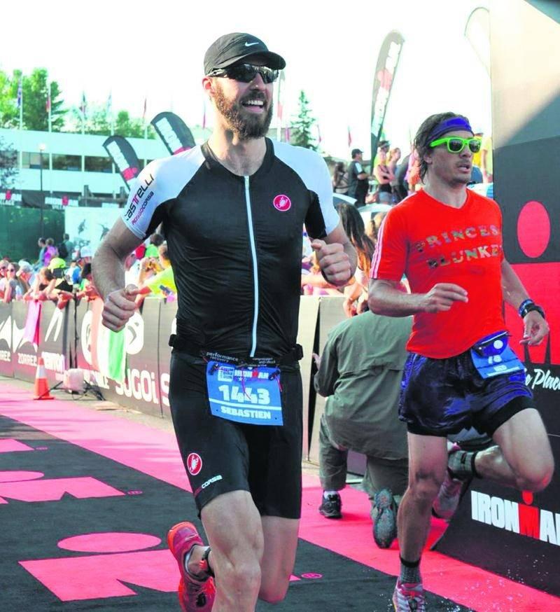 Sébastien Letendre a complété son premier Ironman le 26 juillet, à Lake Placid. Photo Courtoisie