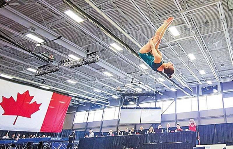 Nora Abouraja de Gymnaska-Voltigeurs devrait confirmer sa place pour le Championnat du monde de gymnastique acrobatique samedi à Saint-Hyacinthe. Photo Courtoisie
