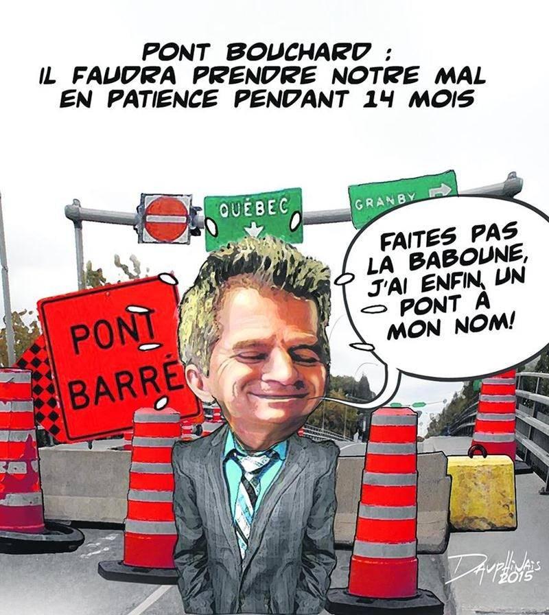 La fermeture surprise du pont Bouchard n'a pas fait que des malheureux, même si elle complique drôlement la circulation en ville.