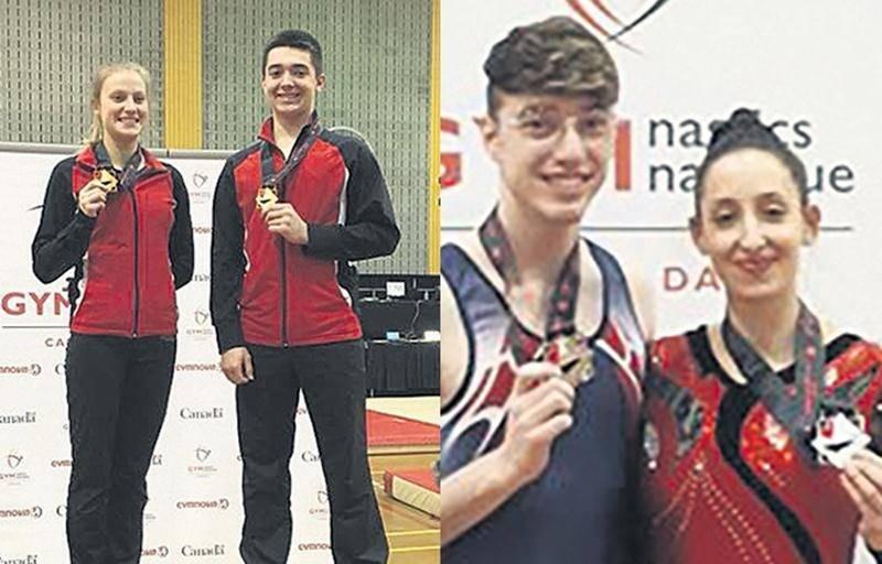 Stéphanie Pelletier (trampoline) et Charles Desmarais (tumbling) ont raflé l'or à la Coupe Canada, tandis que Jean-Philippe Camirand et Nora Abouraja (tumbling) ont obtenu l'argent.
