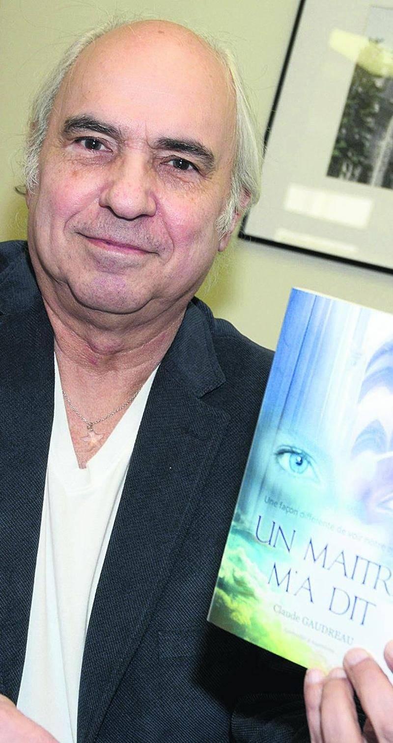 L'auteur maskoutain Claude Gaudreau présente le fruit de sa démarche mystique dans son tout premier livre Un Maître m'a dit. Photo François Larivière | Le Courrier ©