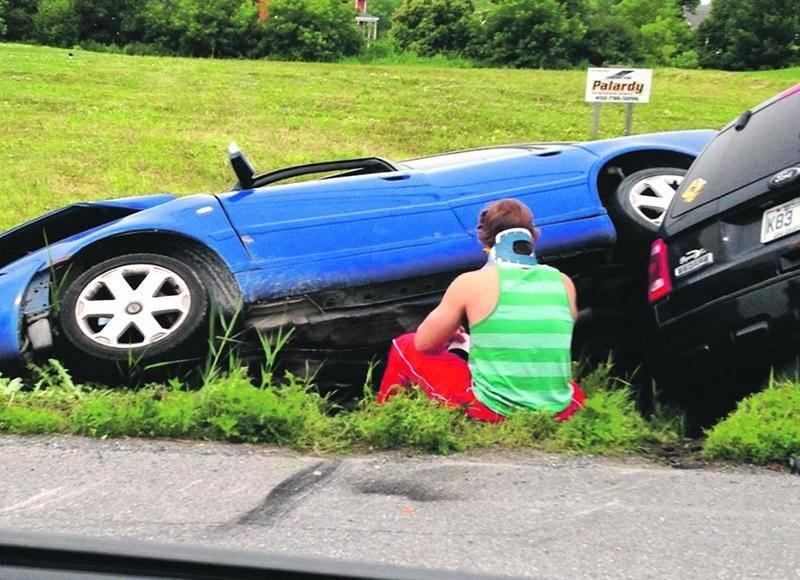 Malgré la force de l'impact, la vie des deux conducteurs est hors de danger, assure la Sûreté du Québec. Photo Courtoisi