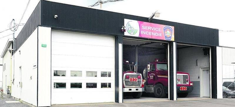 La caserne des pompiers de Saint-Simon tombera bientôt sous l'autorité du Service de sécurité de Saint-Hyacinthe. Photo François Larivière | Le Courrier ©