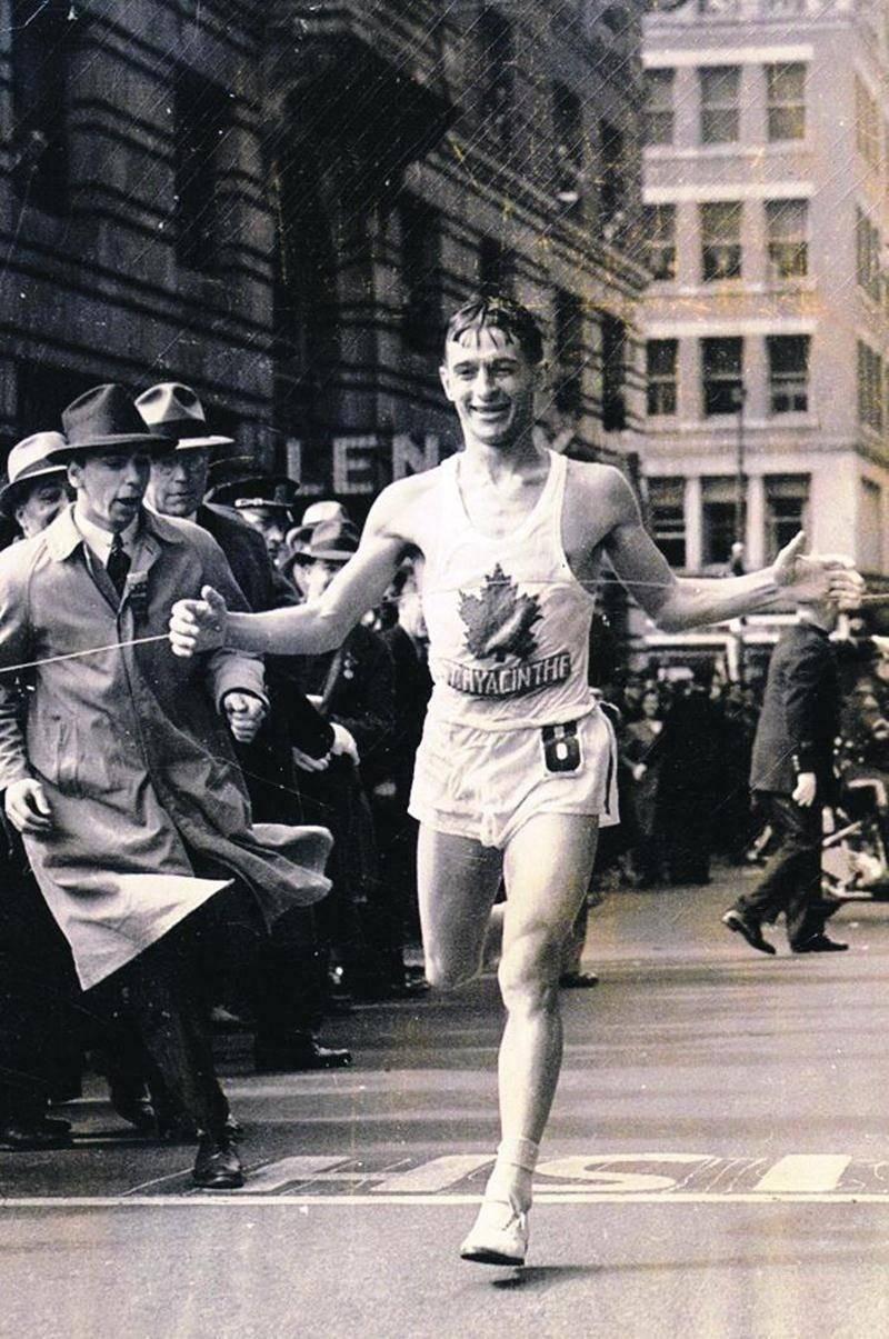 Le 19 avril 1940, Gérard Côté remportait pour la première fois le marathon de Boston. Photothèque | Le Courrier ©