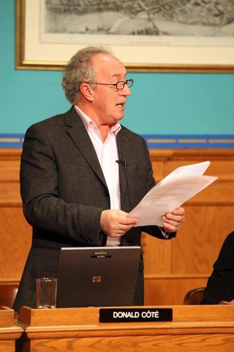 Donald Côté, conseiller municipal du district Sainte-Rosalie.