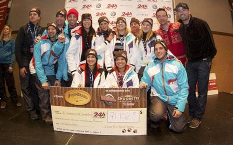 L'équipe Oven-Baked Tradition / Antonio Moreau a amassé 71 152 $ en vue du 24 heures de ski Tremblant 2011, ce qui lui a valu la première position.