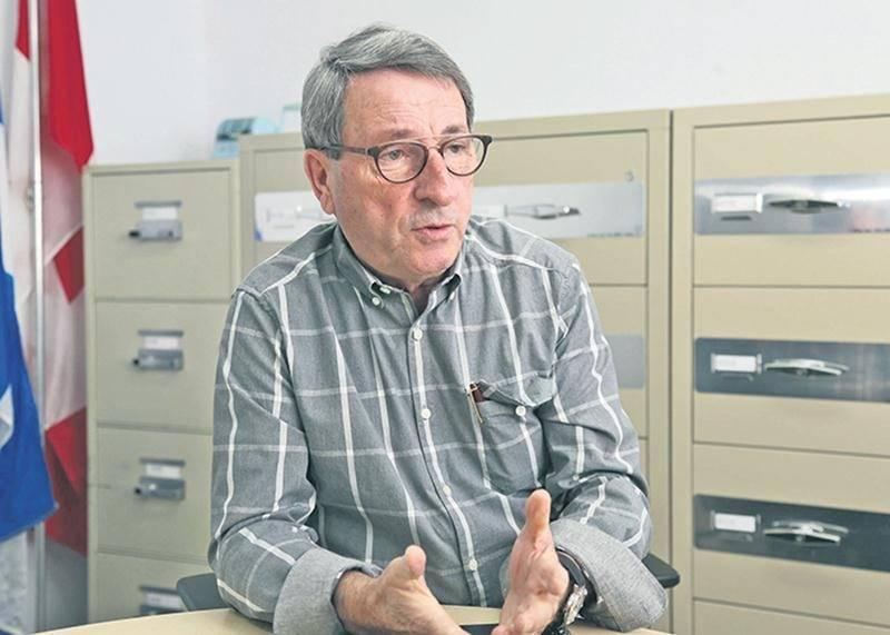 Le maire de Sainte-Marie-Madeleine, Gilles Carpentier. Photo Robert Gosselin   Le Courrier ©
