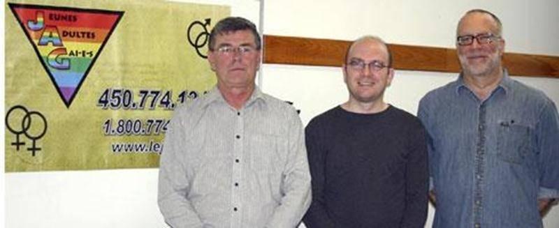 Michel Beaudoin, chargé de projet; Alexandre Houle, intervenant; et Dominique Gauvreau, coordonnateur.