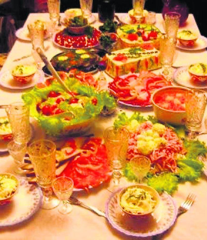 Une table de Noël russe