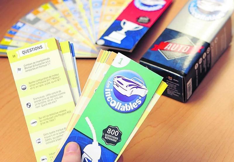 Le jeu-questionnaire Les Incollables Auto est disponible en librairie depuis septembre 2014. Photo Robert Gosselin | Le Courrier ©
