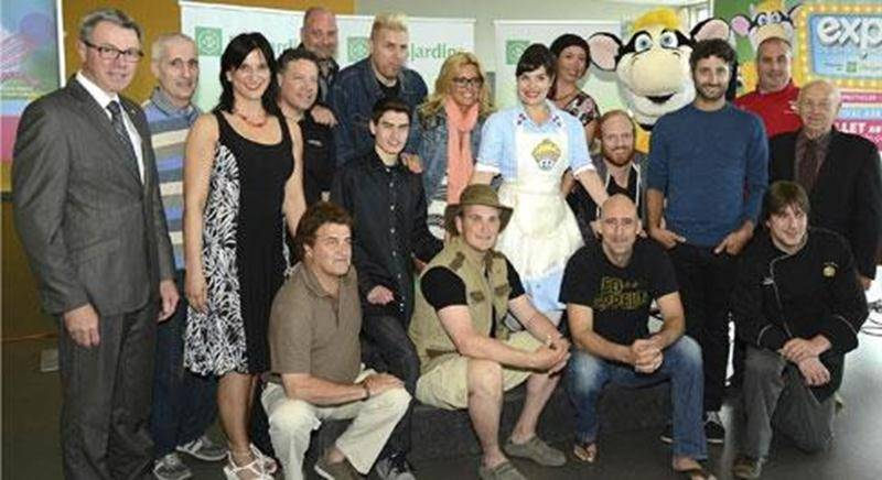 Plusieurs artistes qui se produiront sur la scène de l'Expo-Bar ont participé au dévoilement de la programmation de la 177 e édition de l'Expo de Saint-Hyacinthe.