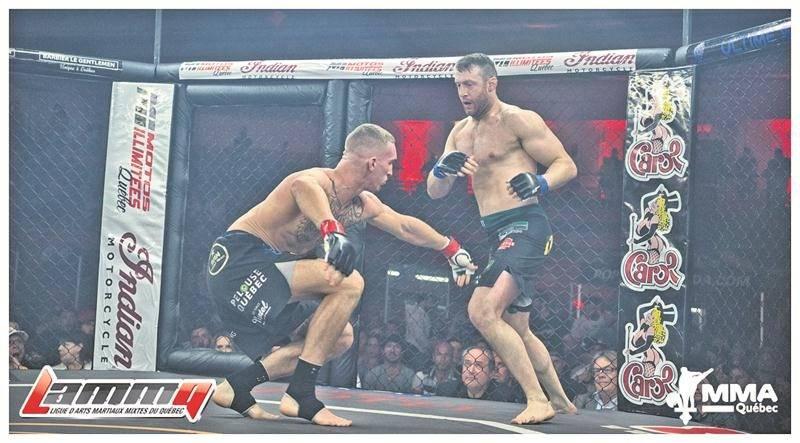 Francis Charbonneau disputera son sixième combat professionnel d'arts martiaux mixtes le 16 juin lors du gala TKO 39. Photo LAMMQ