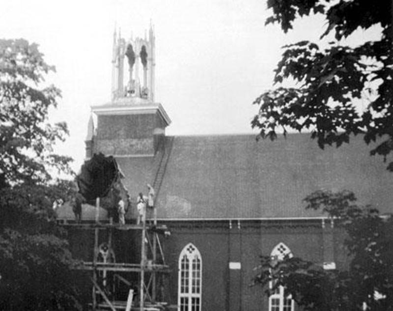 Aspect du clocher, à la suite du bris en 1947.