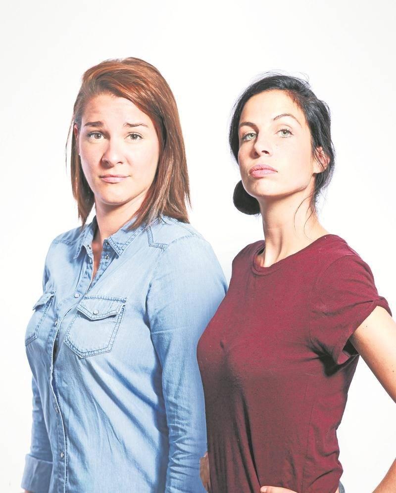 Ève Côté et Marie-Lyne Joncas ratissent large avec leurs « énergies masculines » qui ne manquent pas de mordant sur scène.