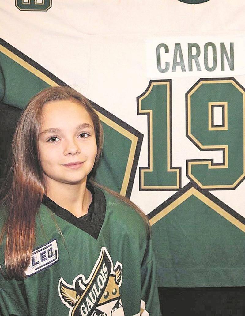 Éloïse Caron s'aligne habituellement avec les Gaulois d'Antoine-Girouard pee-wee AAA relève, mais fera une incursion au sein d'une équipe d'étoiles toute féminine dans le cadre du Tournoi international de hockey pee-wee de Québec. Photo Courtoisie