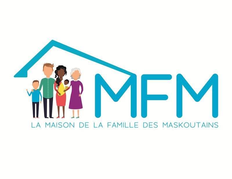 Le nouveau logo de la Maison de la Famille des Maskoutains se veut accueillant et représentatif des différentes réalités familiales en 2018.