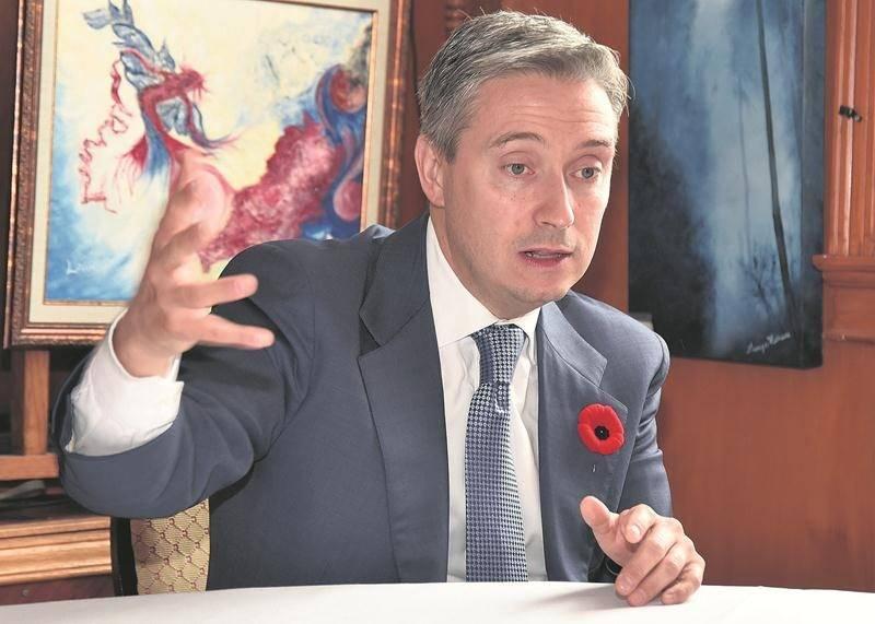 Le secrétaire parlementaire au cabinet du ministre des Finances à Ottawa, François-Philippe Champagne. Photo François Larivière | Le Courrier ©