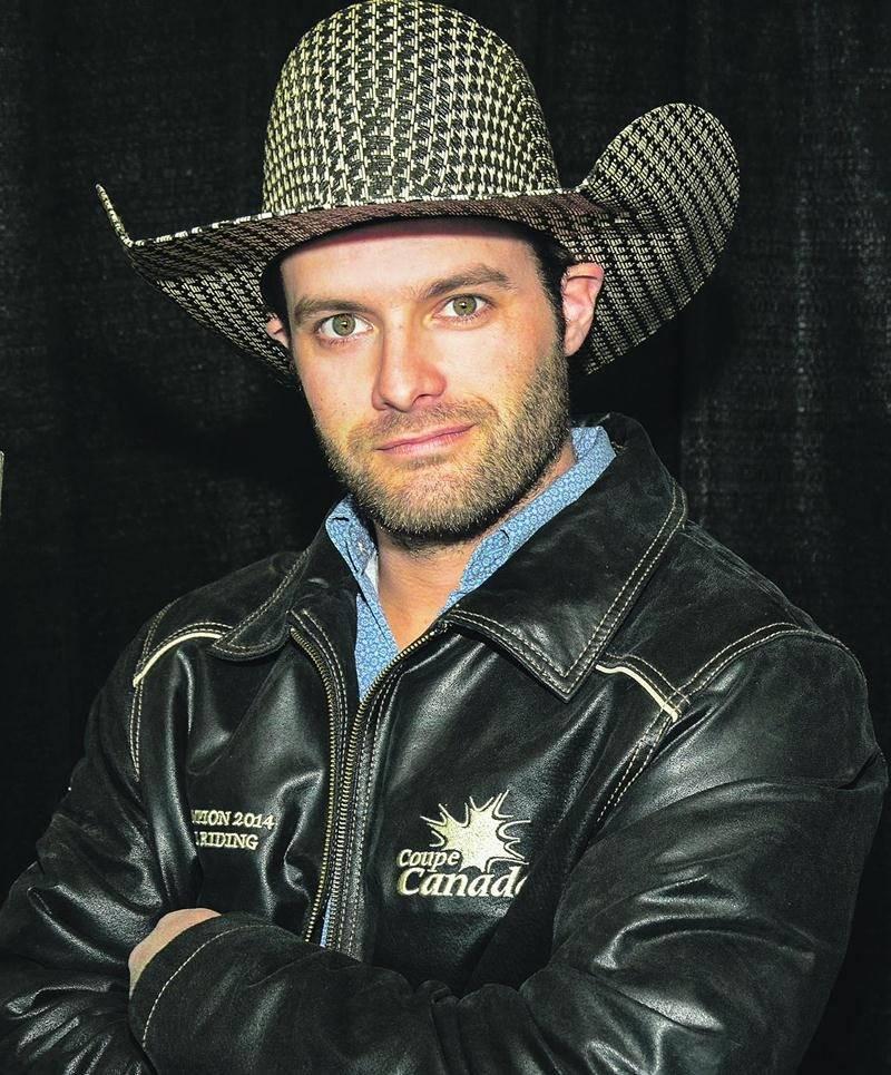 Nicolas Brien, un cowboy de Sainte-Madeleine, sera en action samedi au rodéo présenté au Salon du Cheval. Photo François Larivière | Le Courrier ©