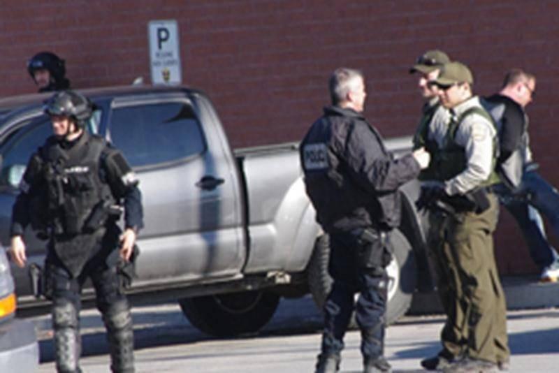 Arrestation musclée à Saint-Hyacinthe