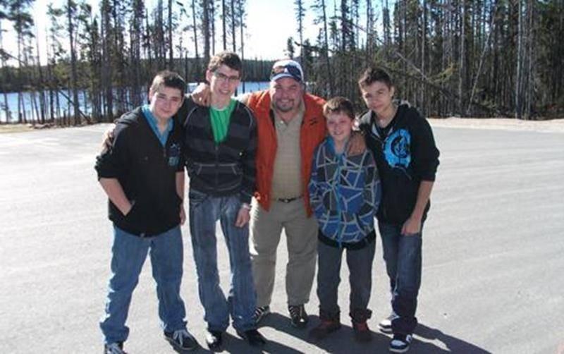 Anthony Cloutier, Samuel Lajoie, Steve Choquette (entraîneur-chef), Tommy Dussault et Samuel Dubé.