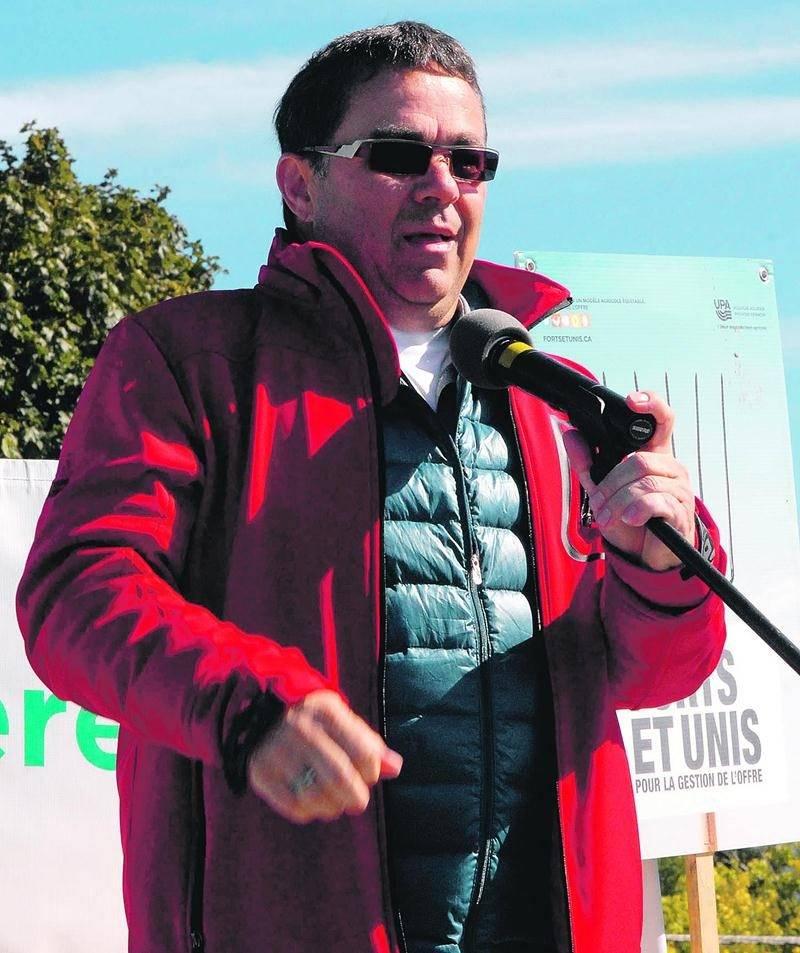 Christian St-Jacques, président de la Fédération de l'UPA de la Montérégie. Photo Martin Grenier | Le Courrier ©
