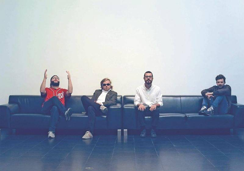 « Le but de ce EP est de voir si on peut en arriver à faire un vrai album. Ça serait notre prochaine étape », croit Olivier Legault (deuxième à gauche), qui travaille déjà sur du nouveau matériel avec le groupe. Crédit : Kevin Le Murphy
