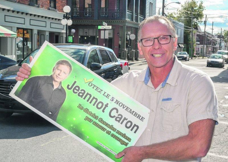 Jeannot Caron en est à sa deuxième tentative dans le district Cascades aux élections municipales.   Photo François Larivière | Le Courrier ©