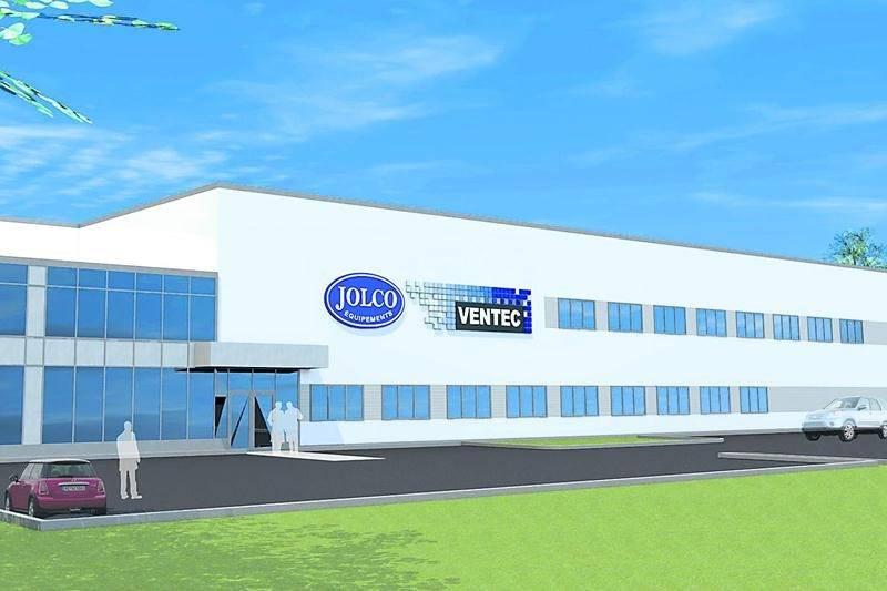 Maquette de la bâtisse qui regroupera sous un même toit le Groupe Jolco et Ventec qui appartiennent tous deux au même propriétaire.