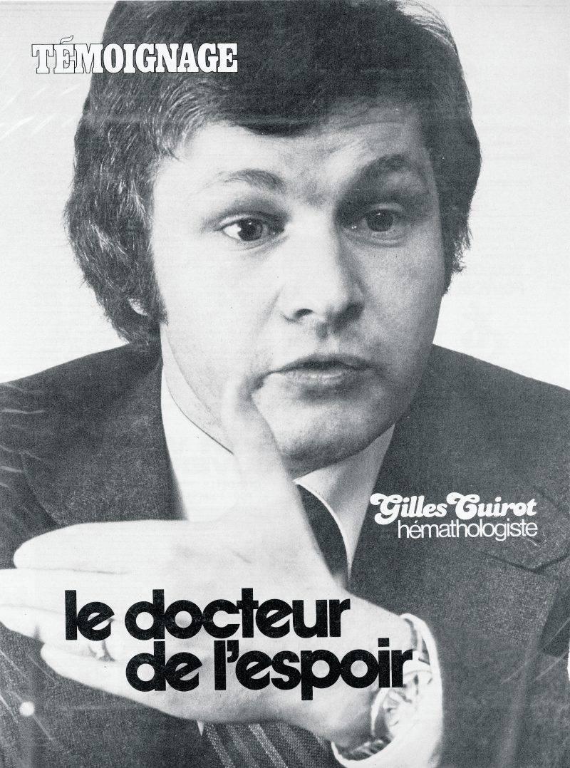 Le jeune Dr Cuirot, peu après son arrivée à l'hôpital Honoré-Mercier. Photo courtoisie