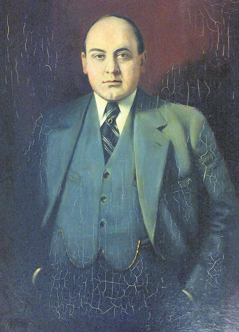 Ce portrait de Télesphore-Damien Bouchard, réalisé en 1933, sera vraisemblablement exposé à l'hôtel de ville après sa restauration.