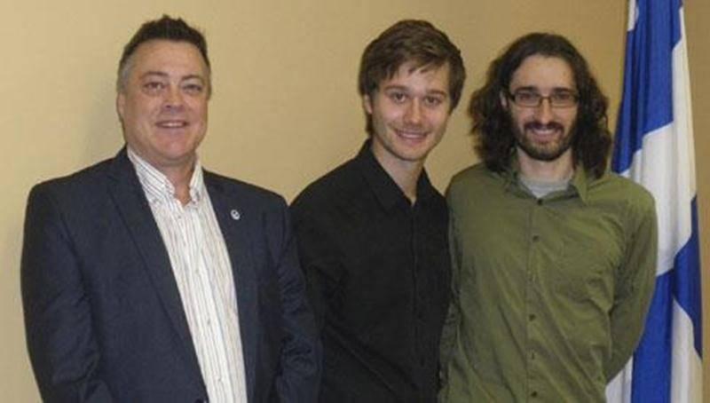 Richard Laroche, Léo Bureau-Blouin et Samuel Bernard: trois Maskoutains s'unissent derrière le projet Mathéma-TIC.