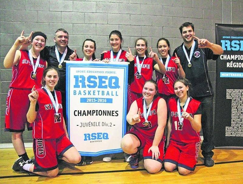 Les Patriotes représenteront la Montérégie en classe juvénile féminin D2 au championnat provincial de basketball scolaire du RSEQ. Photo Courtoisie RSEQ Montérégie