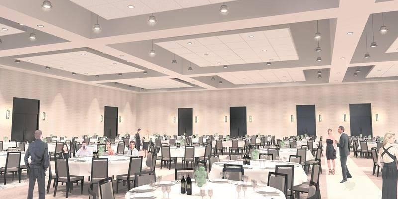 Grande salle de banquet du futur centre de congrès de Saint-Hyacinthe.  Photothèque | Le Courrier ©