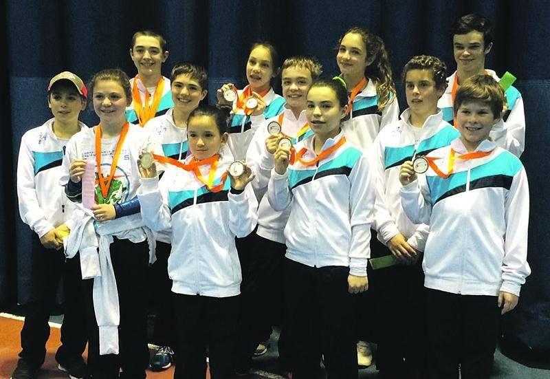Les représentants de Gymnaska-Voltigeurs au championnat de l'Est du Canada Photo Courtoisie