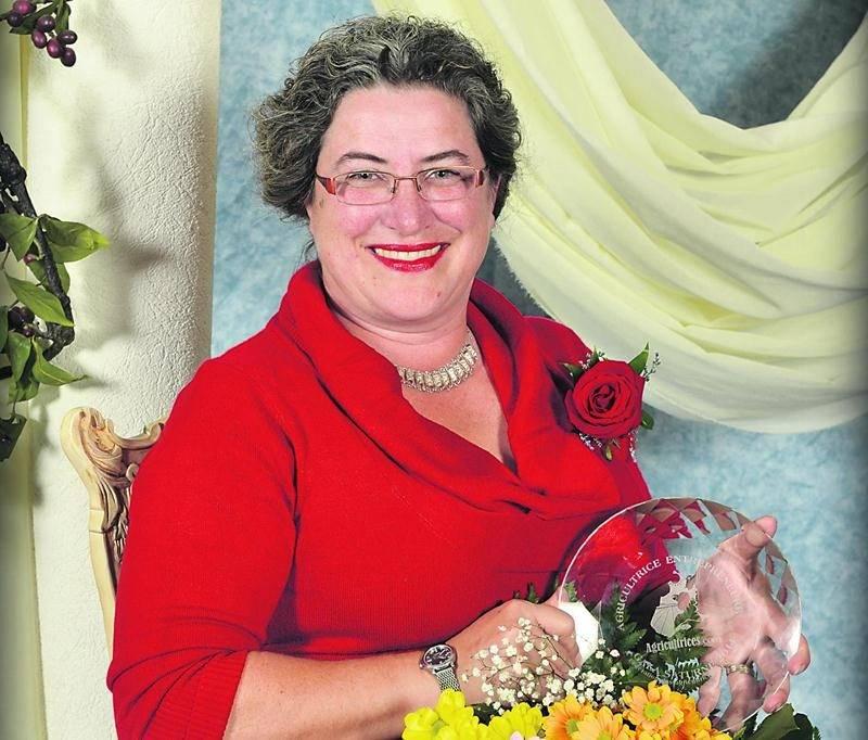 Stéphanie Levasseur, du verger Au coeur de la pomme à Frelishburg, a mérité un prix au Gala Saturne qui a eu lieu le 18 octobre.