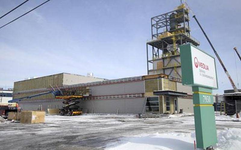 Un centre de régénération des huiles usées prend forme dans le parc industriel Théo-Phénix à Saint-Hyacinthe.