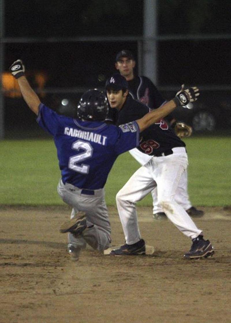 Maxime Gaboriault a frappé l'un des quatre coups sûrs des Dodgers dans la défaite du jeudi 8 septembre, au parc Saint-Sacrement.