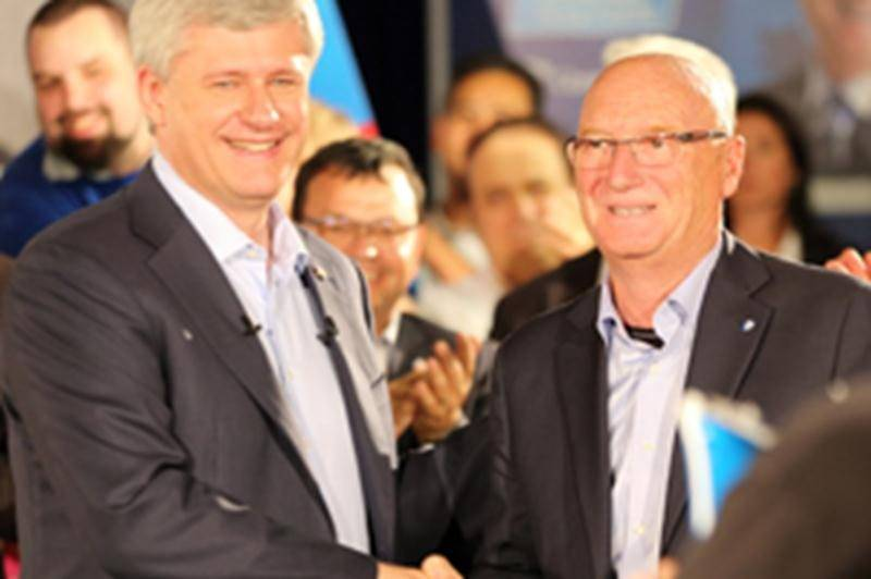 Stephen Harper courtise les Maskoutains