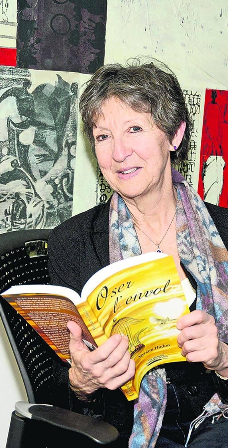 Myriam Hudon lancera son premier roman Oser l'envol au restaurant Le Parvis le 25 mars.  Photo François Larivière   Le Courrier ©