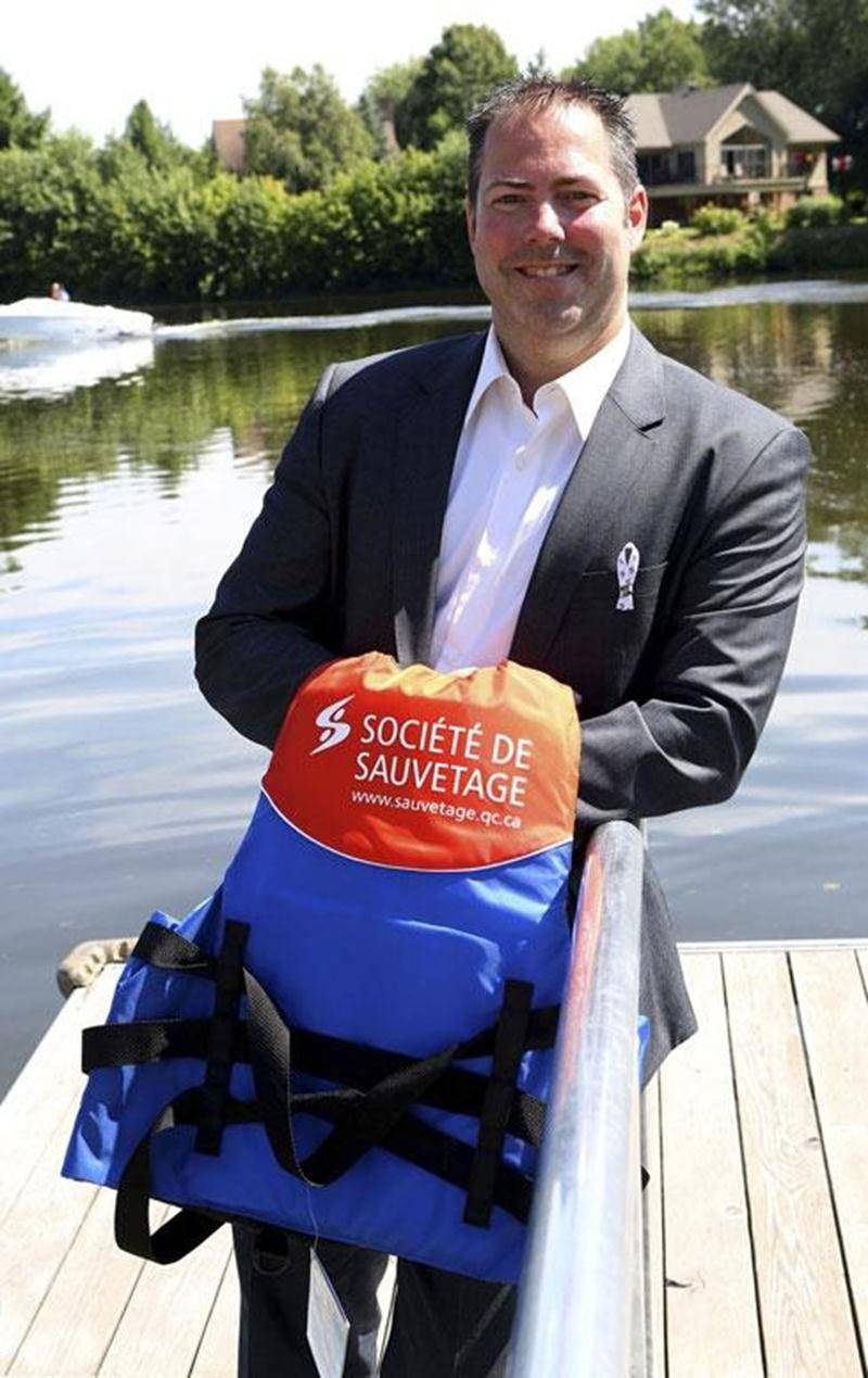 Le Maskoutain Yanick Graveline se dit prêt à relever le défi qui se présente à lui avec sa nomination comme président de la Société royale de sauvetage Canada.