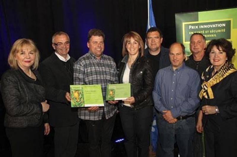 Les lauréats régionaux des Prix Innovation de la CSST, secteur Yamaska.